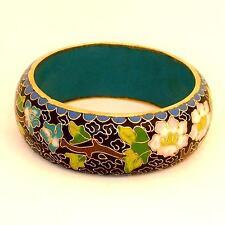 Alter Cloisonné Armreif breit ca.3cm 726.1 ver-gold-et Cloisonne bracelet old _H
