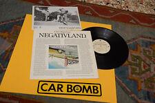 NEGATIVLAND LP ESCAPE FROM NOISE ORIG 1987 EX CON BOOKLET AND STIKER