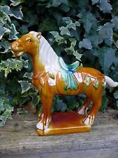 Ceramic Ming Tang Style Horse Statue Hobby Collector Home Decoration over 10''