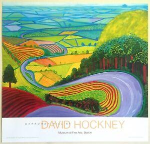 DAVID HOCKNEY OFFSET LITHOGRAPH PRINT POP ART MUSEUM POSTER GARROWBY HILL 1998