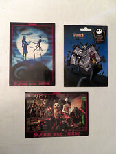 Tim Burton's The Nightmare Before Christmas Postcards and Patch