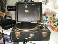 Antique Carryola Master Portable Hand Crank 78 RPM Phonograph WORKS VIDEO!!!