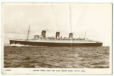 Cunard White Star R.M.S.Queen Mary RP PPC, Unposted From Bridge House