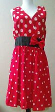 Disney Cruiseline Red Polka Dot Minnie Mouse Dress Sz Xl Gorgeous