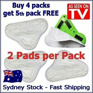 2 PACK - HI QUALITY Aftermarket H2O White (X5 Steam Mop) Pad Washable Microfiber