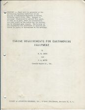 Technical Paper Cummins Engine Requirements Earthmoving Equipment 1954 (E4438)