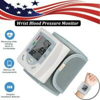 Wrist Blood Pressure Digital Monitor BP Cuff Pulse Heart Rate Automatic Tester