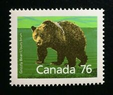 Canada #1178i Sp 14.4 x 13.8 Mnh, Mammals Grizzly Bear Definitive Stamp 1989