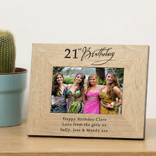 Cellini 21st Birthday Photo Frame  with personalised engraved Unique #1
