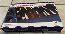 Cardinal Backgammon Set Premier Edition Leatherette Case 1997