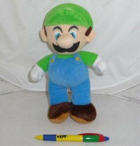 Peluche LUIGI 20cm da SUPER MARIO Bros Land Kart Wii NUOVO