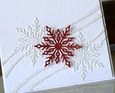Poppy Stamps SNOWFLAKE RIBBON thin metal die, Christmas, made in USA