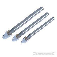 Silverline Piastrelle e Vetro Trapano Set 3 PEZZI 5,6 e 8mm