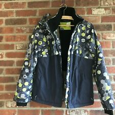 Orage  Upper Body & Sleeve Geometric Print  Lower Body Solid Boy's Ski Jacket 14