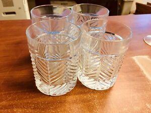 Ralph Lauren Herringbone Double Old Fashioned Whiskey Glasses - Set of 4 - NEW