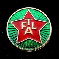 RARE FTAL COMMUNIST RED STAR LAPEL PIN BADGE