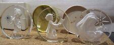 Lot of Three Danbury Mint Christmas 1977,1978,1979 Lead Crystal Sculptures
