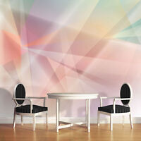 Fototapete XXL Bunte Kunst Abstrakt Geometrie Wohnzimmer Tapete Wandtapete 27