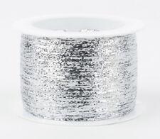 Woolly Hugs Glitzer Beilaufgarn metallisiert zum Mitstricken Fb 301 silber