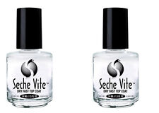 2 X Seche Vite Dry Fast Top Coat - Shiny 0.5oz / 14 ml