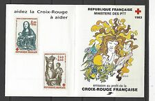 FRANCE # B558a (B557-558)  MNH  RED CROSS, VIRGIN WITH CHILD, Full Booklet