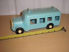 "Vintage Plastic 8 3/4"" long ILLCO SMURF PRE SCHOOL BUS from 1982 by Peyo"