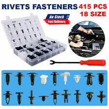 Auto Car Body Plastic Push Pin Rivet Fasteners Trim Panel Moulding Clip 415PCS