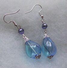 BLUES BLOWN GLASS EARRINGS