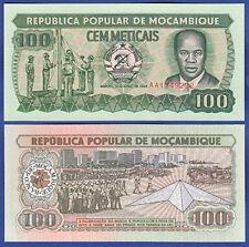 MOSAMBIK / MOZAMBIQUE 100 Meticais 1989 UNC P. 130 c