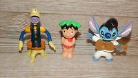 "Disney Lilo & Stitch McDonalds Elvis Bobble +Pleakley Happy Meal Figure Toy 3.5"""