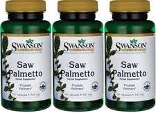 300 Caps Swanson Saw Palmetto 540mg 3X, Prostate & Urinary Tract Health + Bonus
