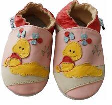 Leder Schuhe Echtleder Puschen Lederpuschen Hausschuhe Gr 23 24 18-24Monate NEU