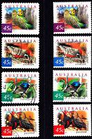 Australia  2001 Desert Birds 2 sets dif. perf P Used S/A