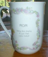 """Precious Moments Coffee Mug """"Mom"""" 1993 Caring and Sharing Euc"""