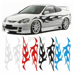"""Flame decal set large 12""""x 48"""" tribal graphic body car truck vinyl sticke"""