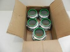 """Box of 5 - Madison Electric 2"""" Liquid Tight Insulated Throat Straight Connector"""