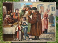 Franz Müller-Münster Ölgemälde Der Brillenverkäufer signierte Künstlerarbeit