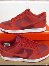 fe50669aa1592 Mens Nike Dunk Low Trainers Size 8.5 Red BARGAIN