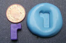 """Reusable Letter """"R"""" Silicone Food Safe Mould, Mold, Sugarcraft, Jewellery, Cake"""