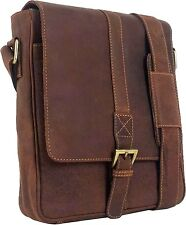 UNICORN Real Leather iPad, Kindle, Tablets & Accessories Messenger Bag Tan #6J
