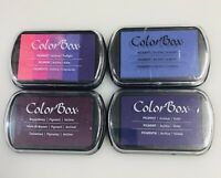 ColorBox Pigment Archival Ink Pads Lot 4 Full Size Pads Clear Snap Purples NEW