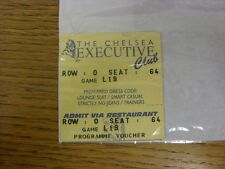 03/05/1997 Ticket: Chelsea v Leeds United [Executive Club] (2 Parts). Thanks for