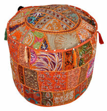 Indien Handmade Home Decor Cover Round Patchwork Ottoman Pouf Stool Chair Pouffe