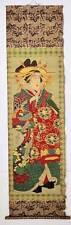 Japanese Ukiyo-e Nishiki-e Woodblock Print Kakejiku 613 Baido Kunimasa