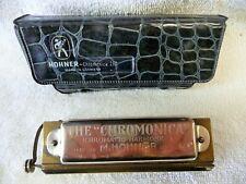 "Vintage M. Hohner ""The Chromonica"" harmonica w/case ""C"" cord"