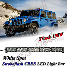 "28"" inch 150W CREE LED Light Bar Spot Work Lamp Offroad SUV UTV 4WD TRUCK 27/30"