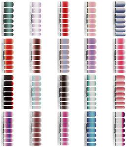 hugttt 20 Sheets Glitter Nail Wraps Full Wraps Nail Polish Stickers Self-Adhesiv