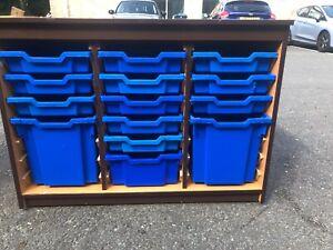 School Tray Unit/storage (used School Furniture,bradford)