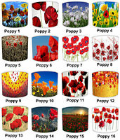 Poppy Lampshades Ideal To Match Poppy Cushions, Poppy Duvets & Poppy Wall Decals