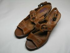 Women's INDIGO Brown Leather Strappy Heels Size 10 M